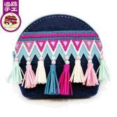 【黑色星期五】民族風 零錢包女硬幣包 迪鷗不織布手工diy 制作 成人布藝材料包