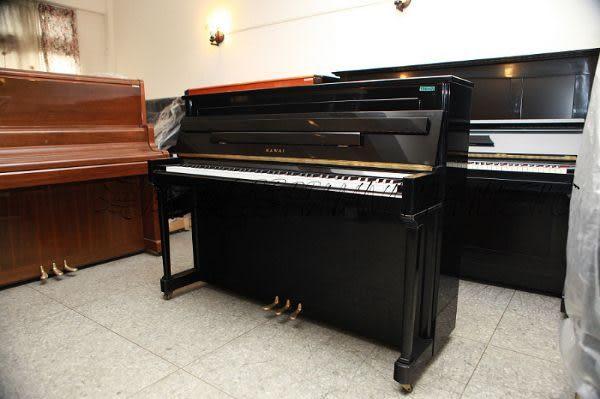 【HLIN漢麟樂器】-日本原裝kawai河合123號直立式中古二手鋼琴-原木-亮黑-豪華37
