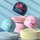 兒童泳帽男童女童可愛卡通印花不勒頭硅膠PU游泳帽護耳【少女顏究院】