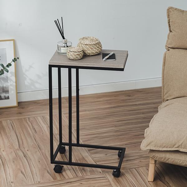 威瑪索 床邊桌/NB便利桌/茶几桌-附輪&底腳-寬42深26高70-(4色)