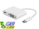 [9美國直購] Monoprice Select Series 轉接器 USB-C to VGA and USB-C (F) Dual Port#15245 _d04