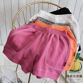 休閒運動短褲女寬鬆百搭簡約闊腿瑜伽健身熱褲夏【時尚大衣櫥】