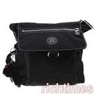 【裕代 KIPLING】黑色直立口袋斜背包 KG0B9429