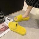 毛毛鞋 可愛毛毛拖鞋女外穿2020年秋季新款平底室內居家絨毛拖一字棉拖鞋【全館免運】