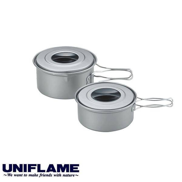 【UNIFLAME 日本 鋁合金山鍋(附袋)】667637/烹調鍋/露營炊具/鍋具/登山