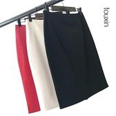 夏季職業裙半身裙女工作一步裙西裝裙包裙顯瘦彈力高腰包臀裙短裙
