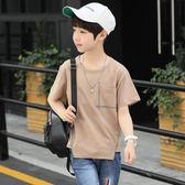 童裝男童短袖T恤兒童夏季上衣中大童韓版夏裝男孩體恤衫 奇思妙想屋