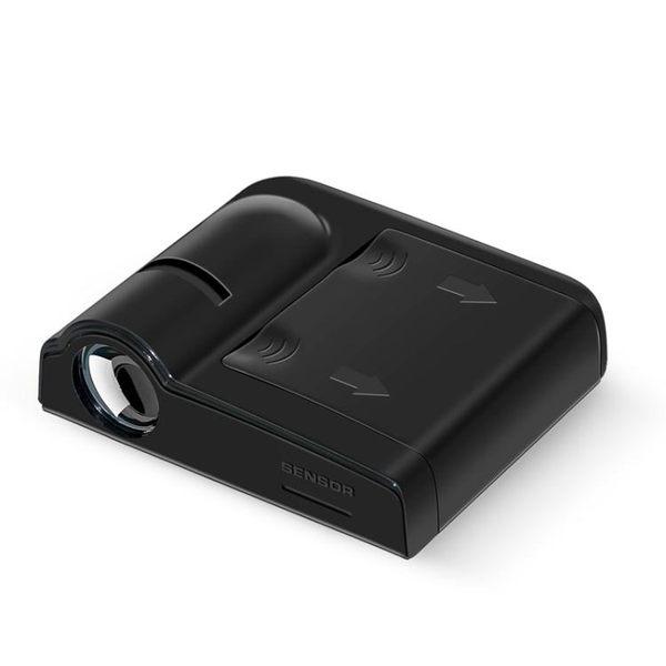 汽車迎賓燈車門燈無線鐳射照地投影燈改裝飾免接線開門感應照地燈 野外之家