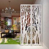 發財樹屏風 折屏影視牆背景玄關時尚白色雕花折疊屏風櫥窗擺設 NMS 滿天星