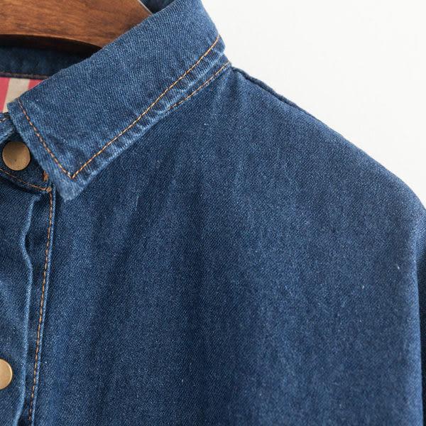 (全館免運) -韓版 學院風氣質中長款顯瘦牛仔外套 (N-098)