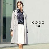 東京著衣【KODZ】歐美挺版雙排扣風衣外套-S.M.L(171847)