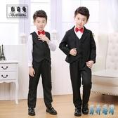 兒童西裝套裝三件套韓版休閒伴郎禮服男孩演出服裝中大童西服外套 JY15174『男神港灣』