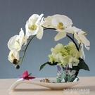 蝴蝶蘭假花盆栽歐式仿真花藝套裝家居客廳裝飾花玄關餐桌盆景擺件 【優樂美】