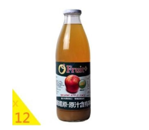 康健生機 義大利O'Fruit有機蘋果汁(12瓶 x1000ml/瓶)--不宜超商取貨