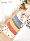 地毯 簡約羊羔絨臥室床邊滿鋪長條地毯家用客廳茶幾毯兒童房榻榻米地墊LX 愛丫 免運