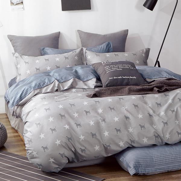 床包 / 雙人【狗狗星球】含兩件枕套  100%精梳純棉  戀家小舖台灣製