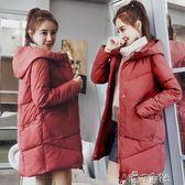 棉服女棉襖學生韓版寬鬆面包服bf中長款冬天棉衣外套 港仔會社