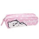 粉紅色款【日本進口正版】貓咪收集 帆布 筆袋 鉛筆盒 收納包 Neko atsume - 427853