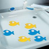 防滑貼 卡通可愛藍魚浴缸PVC腳墊浴室防滑貼地墊家用