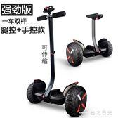 平衡車帶扶桿雙輪平行車兒童10寸成人兩輪越野漂移電動體感思維車  台北日光