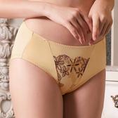 EASY SHOP-花躍蕾絲 中低腰三角褲(自然膚)