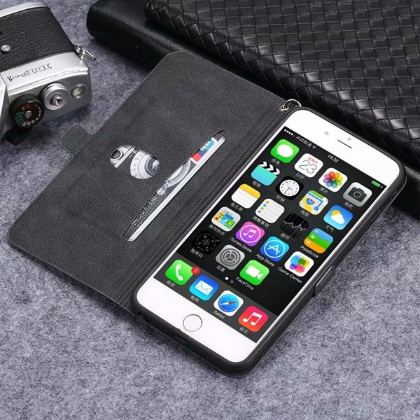 蘋果 iPhoneX iPhone8 Plus iPhone7 Plus iPhone6s Plus 招財萌寵皮套 手機皮套 插卡 支架 掛繩 皮套