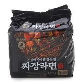 韓國 No Brand 炸醬麵 (五包入) 675g 炸醬拉麵 【庫奇小舖】