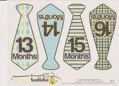 美國 Bumblebee 13-24M寶寶妙衣貼【菱格領帶】