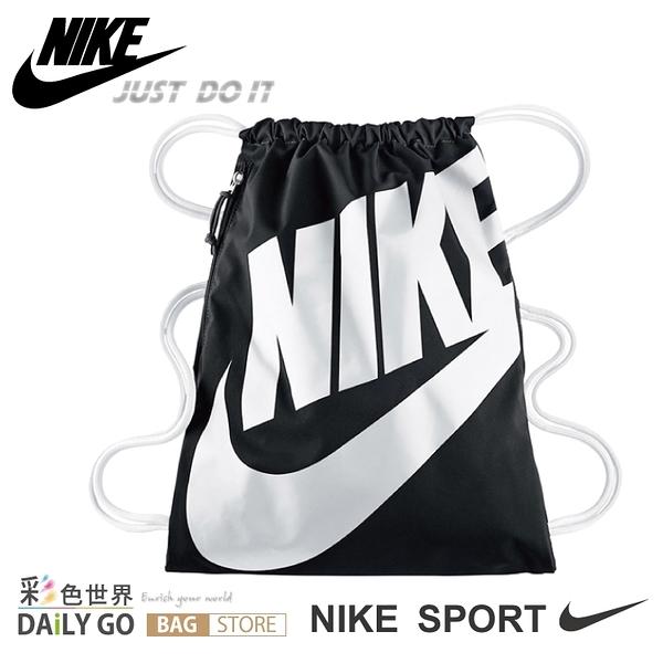 NIKE 束口袋束口背包 黑色 BA-5351-011 彩色世界