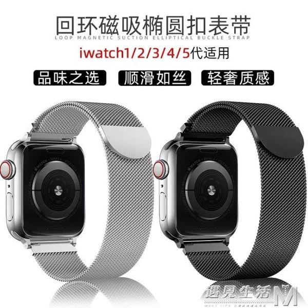 適用蘋果手錶錶帶iwatch5代不銹鋼金屬運動apple watch錶帶 遇見生活