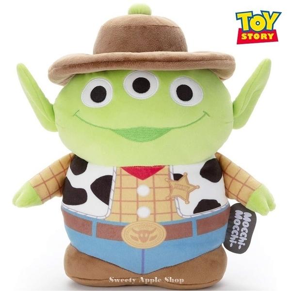 日本限定 玩具總動員 三眼怪 胡迪牛仔版 Mocchi-Mocchi 玩偶娃娃 M號 35cm