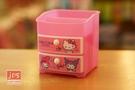 Hello Kitty 凱蒂貓 雙層抽屜筆筒 收納盒 粉 958387