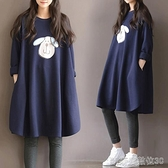新款孕婦秋裝套裝時尚款加絨連身裙上衣女秋冬款冬裝衛衣潮媽洋裝 【快速出貨】