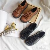 娃娃鞋英倫低幫馬丁鞋大頭娃娃圓頭單鞋日系原宿風皮鞋女厚底中跟鬆糕鞋 伊蒂斯