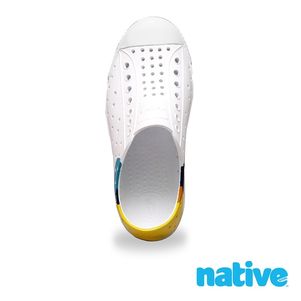 native 小童鞋 JEFFERSON 小奶油頭鞋-活力普普風