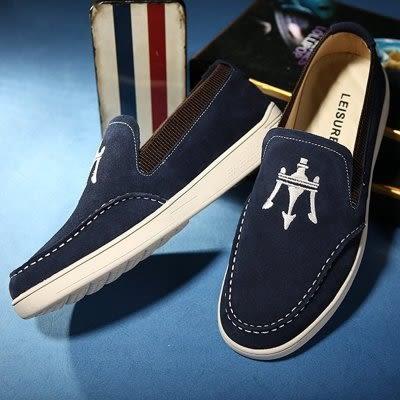 英倫潮流板鞋 男 懶人鞋【藍星居家】