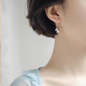 銀致S925銀耳墜女氣質長款2019新款潮耳釘簡約精致花朵夏天的耳環