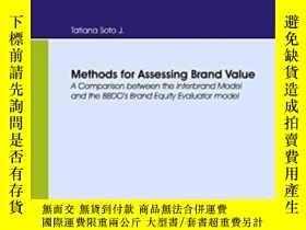 二手書博民逛書店Methods罕見For Assessing Brand Value. A Comparison Between