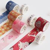 【BlueCat】和風祈願系列盒裝和紙膠帶(2入)