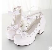 洛麗塔鞋 女 高跟鞋 粉色cosplay鞋子 可愛lolita單鞋 女公主可愛 瑪麗蘇