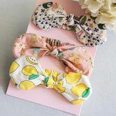 嬰兒頭飾可愛寶寶發帶小女孩生日禮物盒裝發飾套裝禮盒百天頭花【無趣工社】