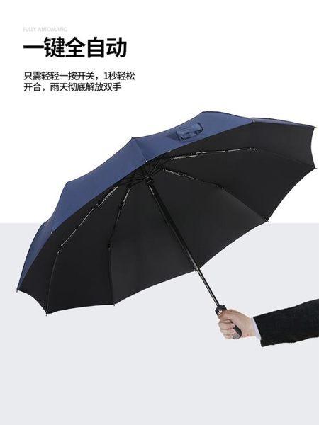 【免運】雨傘男女全自動開收大號雙人三折折疊加固晴雨兩用學生加大號定制