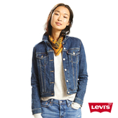 Levis 女款 牛仔外套 / Original 經典修身版型 / 中藍水洗 / 彈性布料