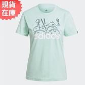 【現貨】ADIDAS W DIMSUM 女裝 短袖 休閒 棉質 港式點心圖案 粉綠【運動世界】GL0968