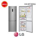 含基本安裝 樂金 LG GW-BF389SA WiFi直驅變頻雙門冰箱 晶鑽格紋銀 / 343L 59.5公分窄版設計 公司貨