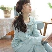 睡衣-長袖秋冬厚款日系小碎花女居家服套裝2色73ol7【時尚巴黎】