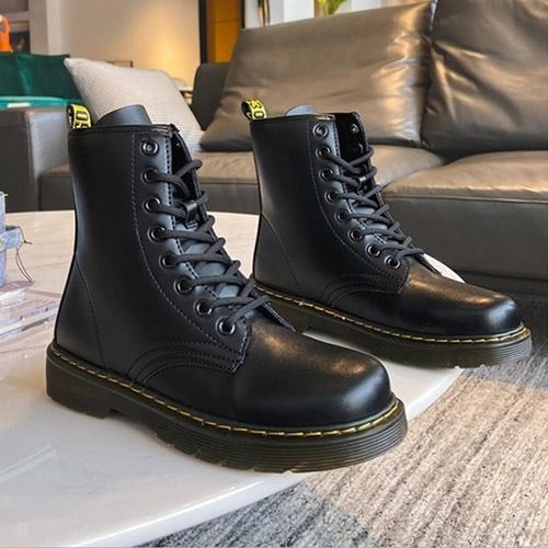 男女款 801 全素面百搭柔軟 馬丁靴 戰鬥靴 軍靴 情侶鞋 短靴 59鞋廊