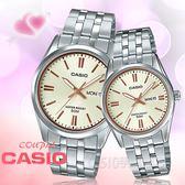 CASIO手錶專賣店 MTP-1335D-9A + LTP-1335D-9A 簡約時尚指針情人對錶 防水50米