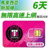 【TPHONE上網專家】新加坡/馬來西亞 無限高速上網卡 6天 每天前面2GB支援高速