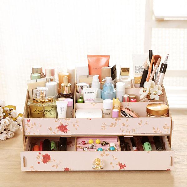 【狐狸跑跑】水晶手把 超大容量DIY首飾盒 收納盒 化妝品盒 【35】